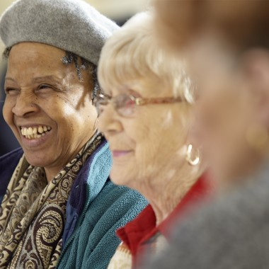 Older people in the community image
